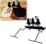Nandafer Cowboy Hat Rack Holder for Wall Western