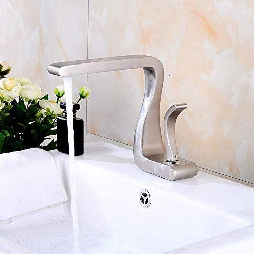Yadianna 7文字OEBブラックガリーメッキアート字型蛇口浴室のカウンターの蛇口