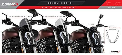 Carenabris Sport para Benelli 502C 2020 Ahumado Oscuro Puig 3690f
