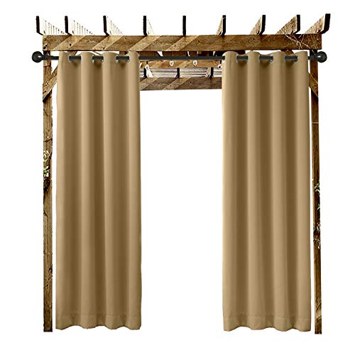 ChadMade Outdoor Curtain Wheat 100