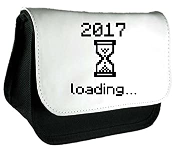 80455d8378 2017 Loading Happy New Year Countdown Pencil Case Or Clutch Bag - Black   Amazon.co.uk  Office Products