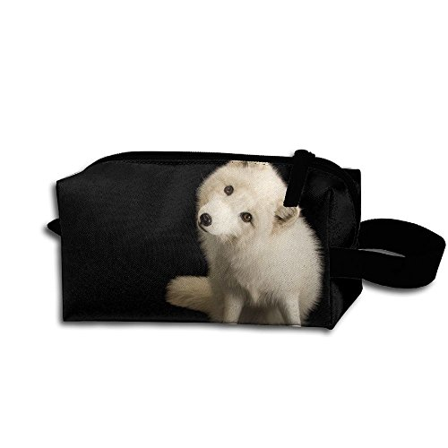 Polar Fox Clipart Waterproof Multi-purpose Storage Tote Tools Pouches Student Pen Pencil Case Coin Purse Pouch Cosmetic Makeup Bag Cosmetic Bags With Zipper And Hanging Loop Purse Clipart