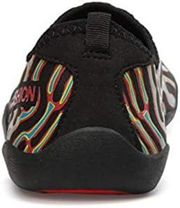 水の靴夏の新しいカップルの水泳シューズ屋外のビーチシューズ女性と男性のダイビングシューズの水遊び(レインボー) ポータブル (色 : Rainbow color, Size : US8)