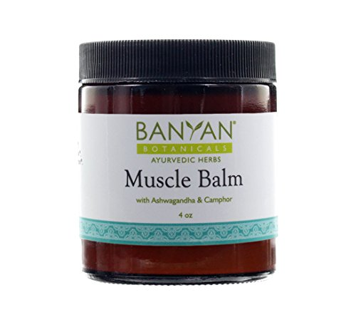 Banyan Botanicals Muscle Balm - 99% Organic - Relax & Rebuild Sore, Tired, Aching Muscles - Ashwagandha & (Muscle Balm)