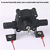 Hand Electric Drill Water Pump - Self Priming Water Transfer Pump, Small Household Pump - Portable Home Garden Lawn Sprinkling Booster Pump, Miniature Manual Electric Drill Drive Diesel Pump