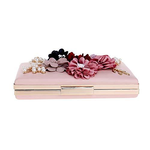 Rouge QZTG Main Femmes à Sacs Fleur pour De Dos Body sac Sacs À À Noir Appliques Pinkcross Sac PU Bandoulière Blushing main À Sacs Sac Soirée p4pwOrq