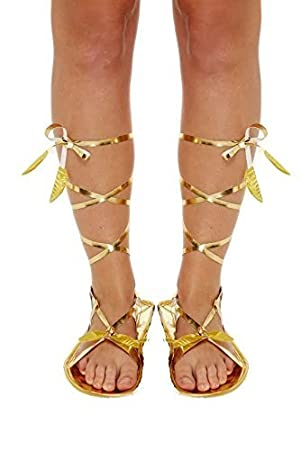c13b6d5ccad Roman Sandals Shoes Slippers Medieval Egyptian Greek Gladiator Fancy Dress  Party Costume  Amazon.co.uk  Toys   Games