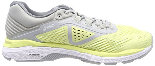 Asics Women's Gt-2000 6 Running Shoes, Pink Yellow (Limelightwhitemid Grey 8501)