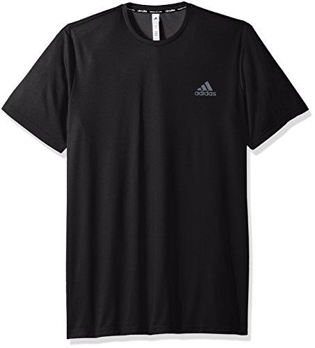 adidas Mens Essentials Tech Big & Tall Tee, Black, X-Large Tall