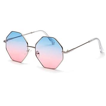LONYENMA Moderno Gafas de Sol hexagonales de Colores ...