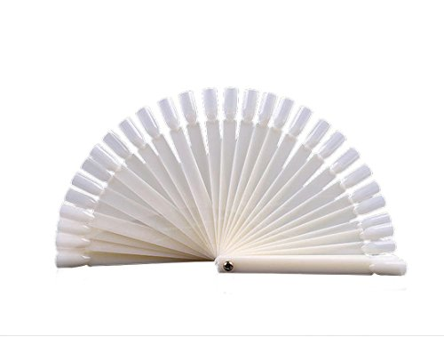 Nail Art Tool,Black Friday Sales Promotions Putars 50Pcs Nail Art False Tips Sticks Practice Display Fan Board Design Tools (A) -