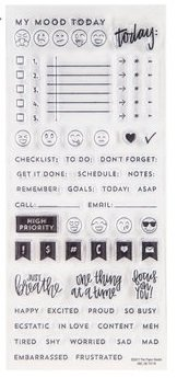Stamps Studio Clear Paper - Planner Clear Stamps Set