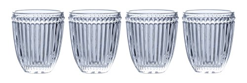 Mikasa Italian Countryside Double Old Fashioned Glass, Clear, 10-Ounce, Set of 4