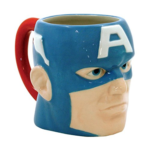 ICUP Marvel - Captain America  3-D Molded Head Ceramic Mug In Gift Box