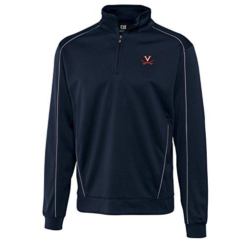 Virginia Cavaliers Golf (NCAA Virginia Cavaliers Men's Edge Half Zip Top, Medium, Navy Blue)