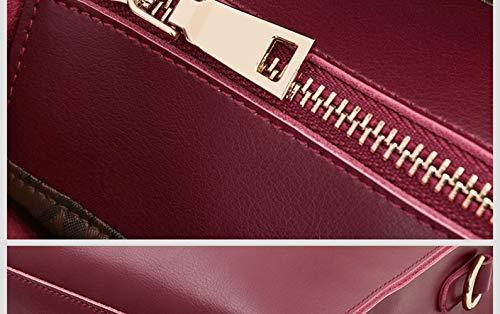 Con Blu Cerniera Pelle Semplice Mano Da Donna Hjly In Borsa A Leather wqZTzPU