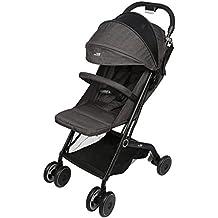Amzdeal Airplane Lightweight Stroller with Pull Rod Umbrella Stroller One-hand Fold Design Baby Infant Travel Stroller - Black