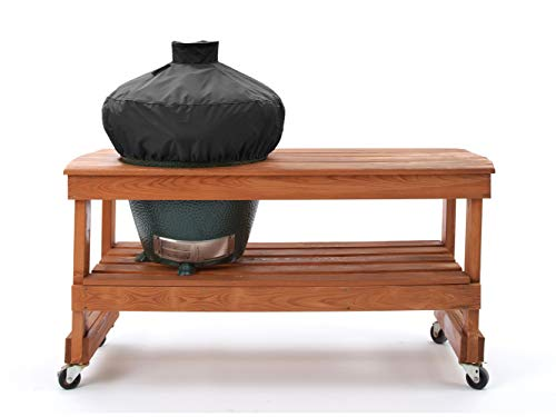 Covermates - Kamado Dome Grill Cover - 26 Diameter x 19H - Elite - 300D Stock-Dyed Polyester - Double Stitched Seam - Drawcord System - 3 YR Warranty - Weather Resistant - Black (Grill Primo Jr)