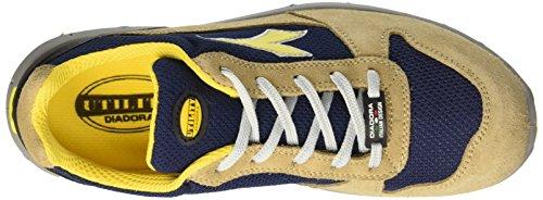 Diadora Run Textile Low S1p, Zapatos de Trabajo Unisex Adulto Amarillo (Beige Corda/blu Maiolica)