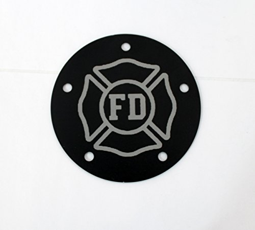 2 hole Points Cover Custom laser engraved with Fire Department logo Fits Harley Davidson