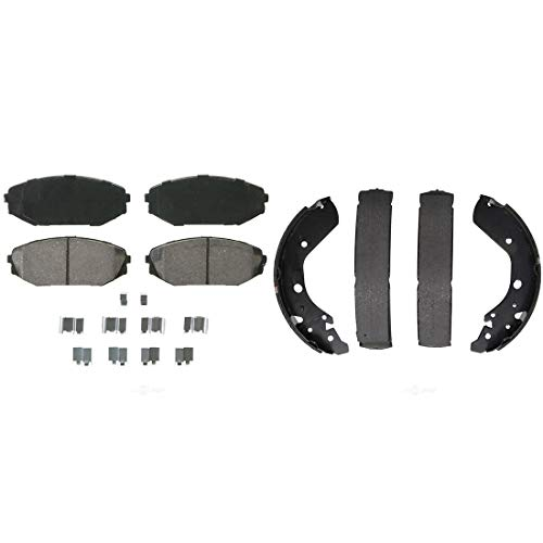 (AutoDN Front and Rear Ceramic Disc Brake Pads and Brake Shoes Set For HONDA ODYSSEY 01)