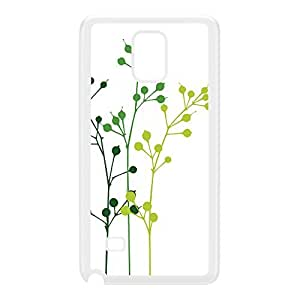 Flowerbuds White White Hard Plastic Case for Galaxy Note 4 by Gadget Glamour + FREE Crystal Clear Screen Protector
