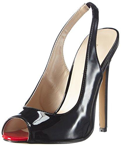 08 Platform Pump (Pleaser Women's Sexy08/B Dress Pump, Black Patent, 13 M US)