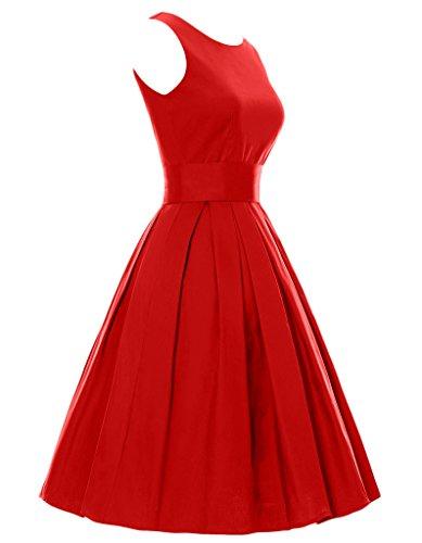 ... OOFIT Damen 1950er Vintage Rockabilly Kleid Audrey Hepburn Partykleid  Cocktailkleid Abendkleid Faltenrock Kleid Gr.XL ...