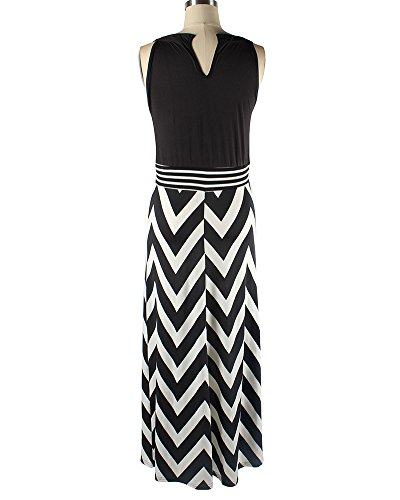 Vestido Largo Mujer Boho Vestido de Noche Maxi Playa Sundress Negro