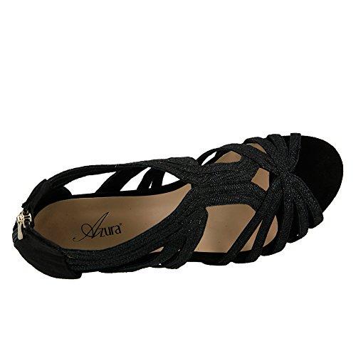 Azura Femmes Esthétique Glamour Sandale Noir