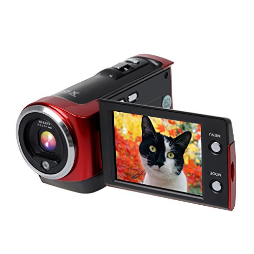 Corprit Digital Video Camcorder HD 720P Camera DV Video Recorder 16MP 16x ZOOM 270 Degree 2.7'' TFT LCD Screen Rotation Portable Camcorder