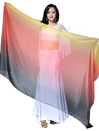 ZLTdream Colors Belly Dance Veils and Scarf 82.7 43.3inch Rayon (Veil Scarf)