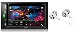 Pioneer Avh 210ex Double Din Bluetooth In Dash Dvd Cd Am Fm Front Usb Digital Media Car Stereo Receiver 6 2 Wvga Touchscreen Display Apple Iphone And Android Music Support Free Alphasonik Earbuds