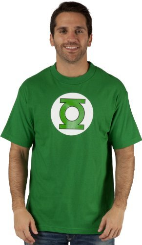The Green Lantern Simple Logo Mens T-shirt, Green, XX-Large