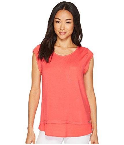 Calvin Klein Womens One Pocket Shirt Watermelon LG (US 12) One Size ()