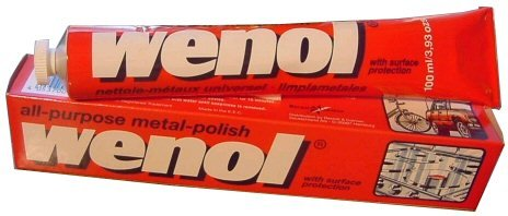 Wenol Metal Polish - 20 100ml (3.98oz) Tubes (One Case - 20 Tubes)