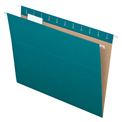 Colorful Hanging (Pendaflex Essentials Hanging Folders, Letter Size, Teal, 25 per Box)