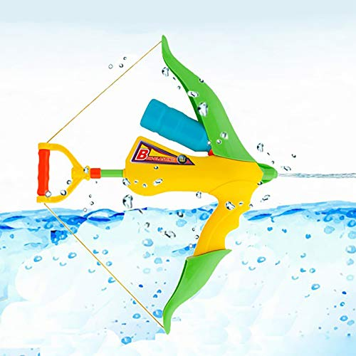 Super Water Gun Cannons Toys - Happytime Bow and Arrow Spray Water Gun with Bottle Water Soaker Blaster Squirt Toys for Summer Water Games Pool Party Outdoor Play for Kids Adults ()