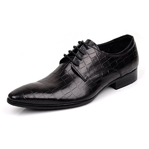 Scarpe Appuntite Americano Sposa Traspiranti da Europeo Moda Comode Scarpe Stringate Black Stile E E1vwzInwq