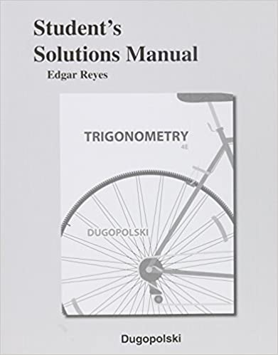 Amazon students solutions manual for trigonometry students solutions manual for trigonometry 4th edition fandeluxe Choice Image
