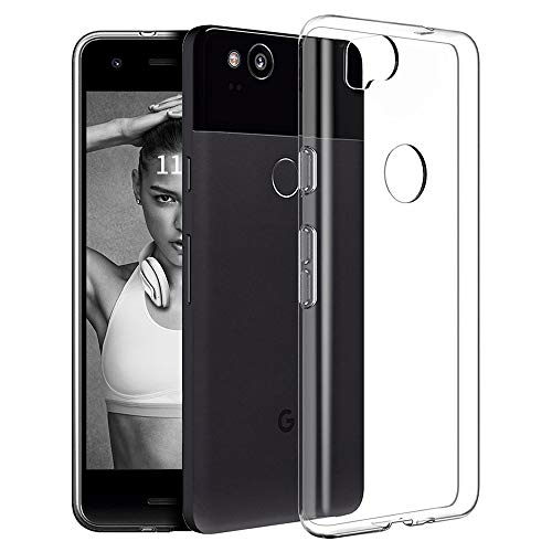 Google Pixel 2 Case,Ultra [Slim Thin] TPU Shock Absorption/Scratch Resistant Flexible Gel Rubber Soft Skin Silicone Protective Case Cover for Google Pixel 2 (Crystal -