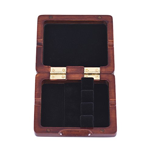 Bassoon Reed Case,Wooden Bassoon Reed Box Maroon Hand Carved for 3pcs Reeds by ammoon (Image #6)
