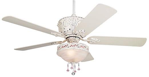 Casa deville antique white light kit ceiling fan amazon aloadofball Choice Image