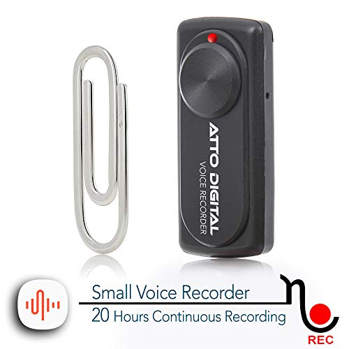 - Small Voice Recorder with 20 Hours Battery Life | Ideal for Lectures, Meetings or Interviews | 141 Hours Capacity on 8GB | nanoREC by aTTo Digital