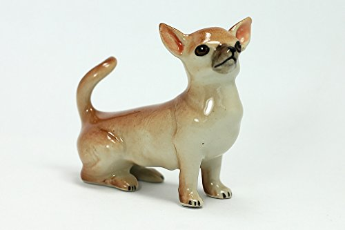 (Miniature Chihuahua Figurine Hand Painted)