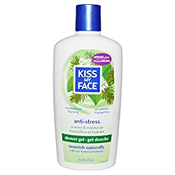 Kiss My Face, Anti-Stress Shower Gel, Woodland Pine & Ginseng, 16 fl oz (473 ml) - 2pc
