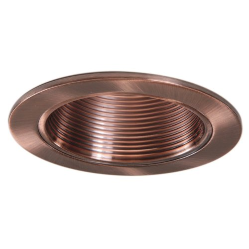 4 inch copper trim recessed can light replaces halo. Black Bedroom Furniture Sets. Home Design Ideas