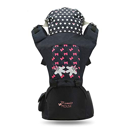 Ddl Baby Carrier Ergonomic with Hip Seat Cotton Lamp and Breathable/Multiple Placement: Back, Ventral, Workmanship and Convertible Lumbar Bench, Wrap, Front and Back,2