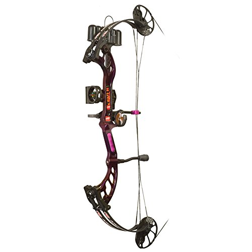 - PSE Ready to Shoot Fever Compound Bow, Purple Rain, 60-Pound, Right Hand