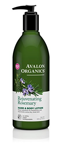 & Body Lotion, Rejuvenating Rosemary, 12 Ounce (Avalon Hydrating Body Lotion)